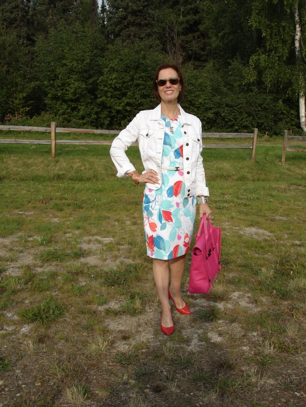 #over40  work outfit with abstract floral print| High Latitude Style | http://www.highlatitudestyle.com
