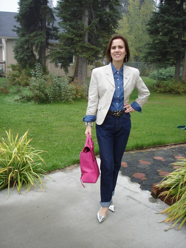 fashion over 40 woman in Casual Friday office look