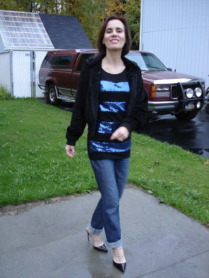 #fashionover50 low budget outfit for going out with thrifted and sales items