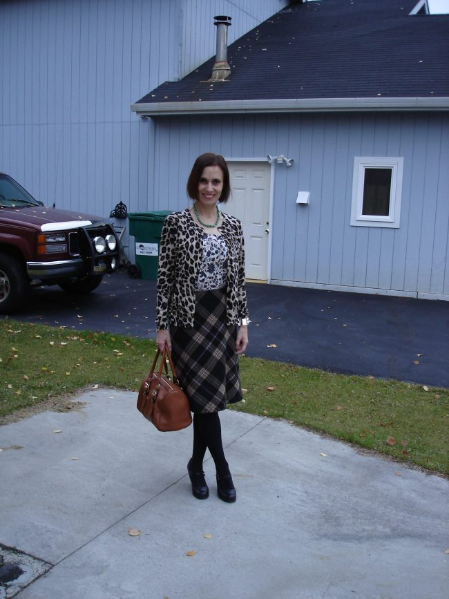 influencer in floral print, plaid, leopard print