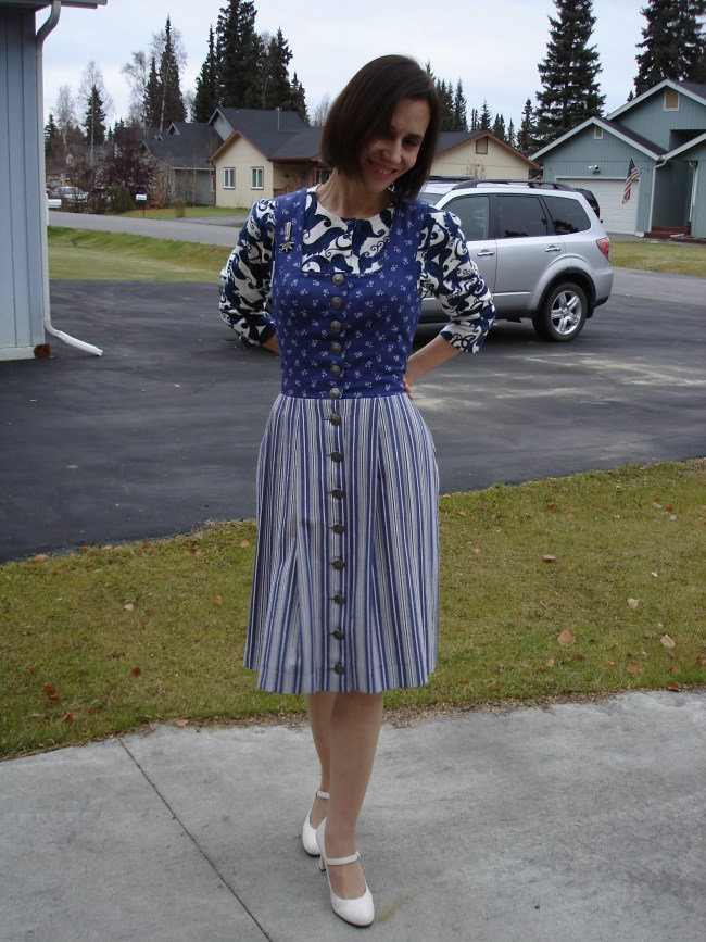 #over40 Dirndal with cardigan underneath | High Latitude Style | http://www.highlatitudestyle.com