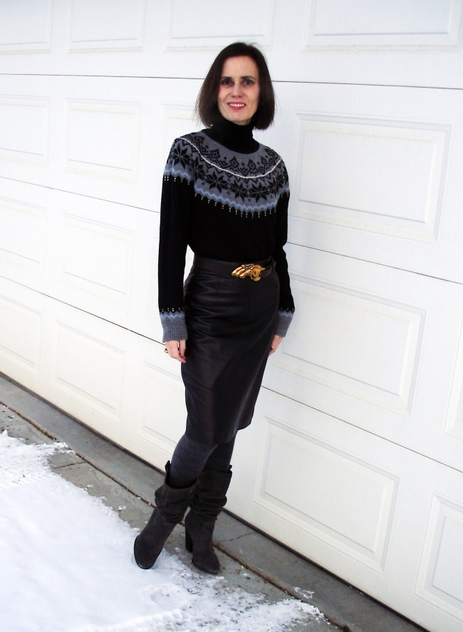 Example of Fair Isle  sweater variation