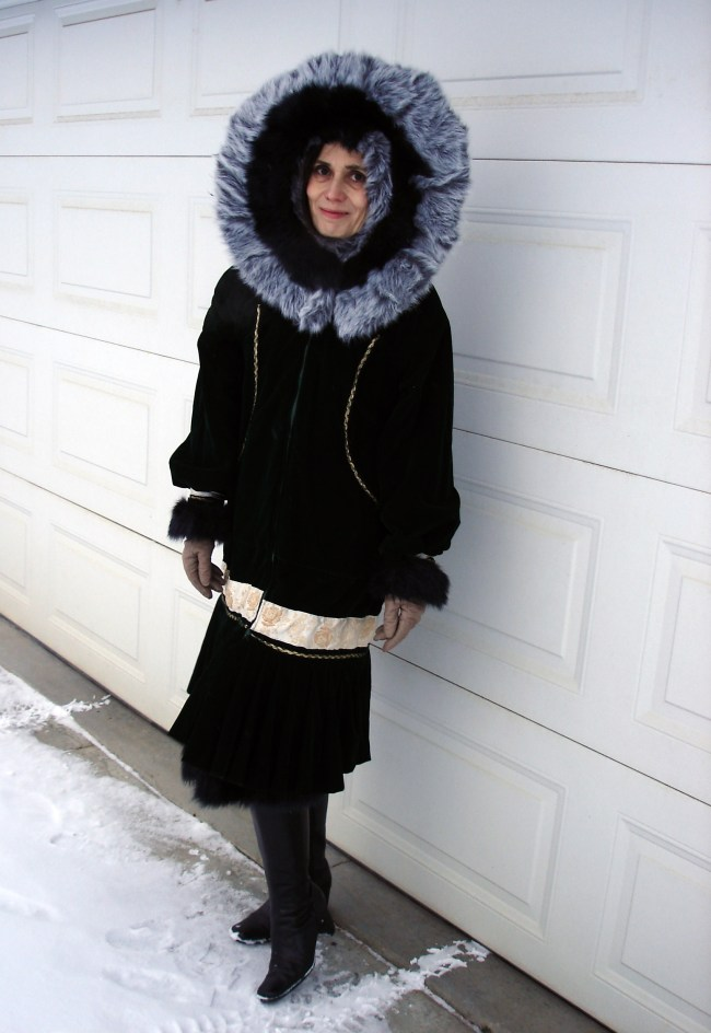 Thanksgiving outerwear with Alaska traditional Kuspak style parka