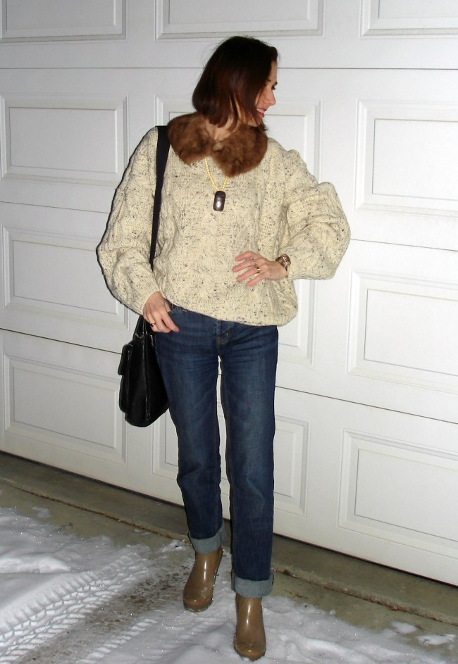 #fashionover50 mature style blogger in casual winter look for running errands on Christmas Eve