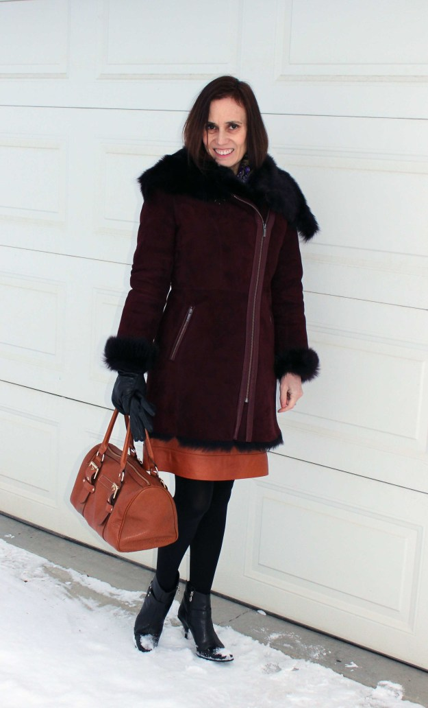 fashion blogger over 50 in winter look