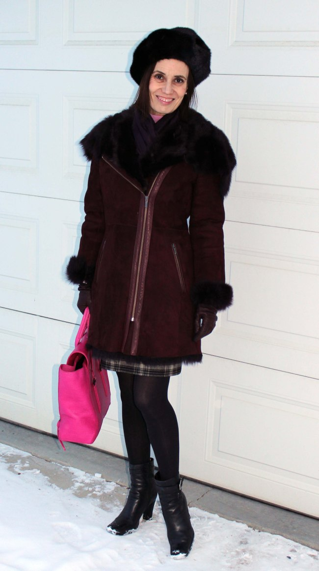 fashion blogger over 50 in outerwear