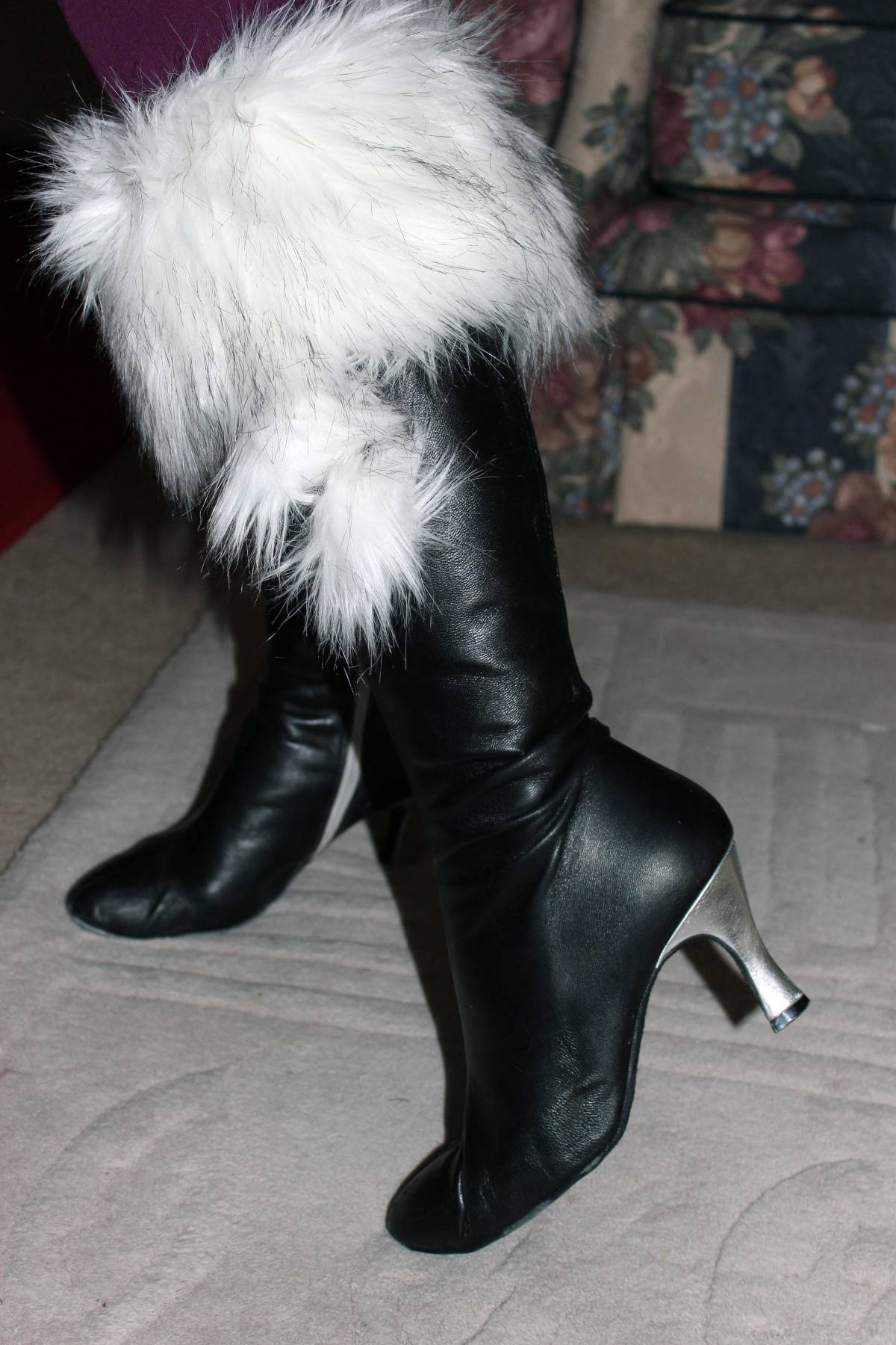 dance boots with boot-toppers