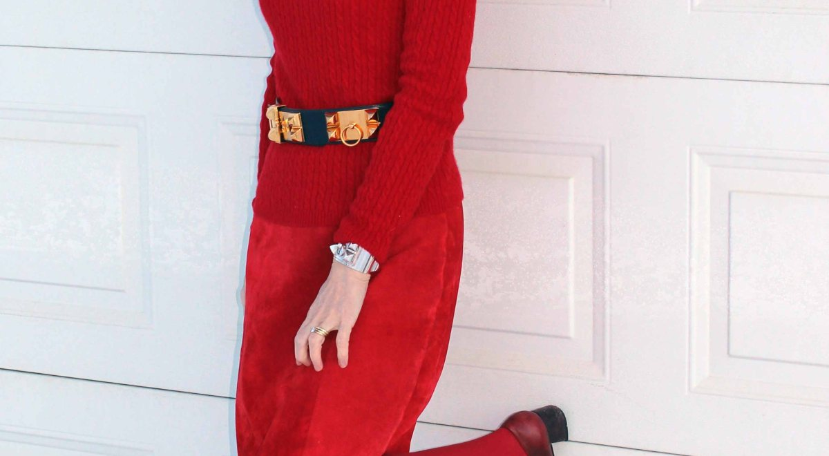 #monochromatic-look #mature-women-fashion How to wear red High Latitude Style | http://www.highlatitudestyle.com