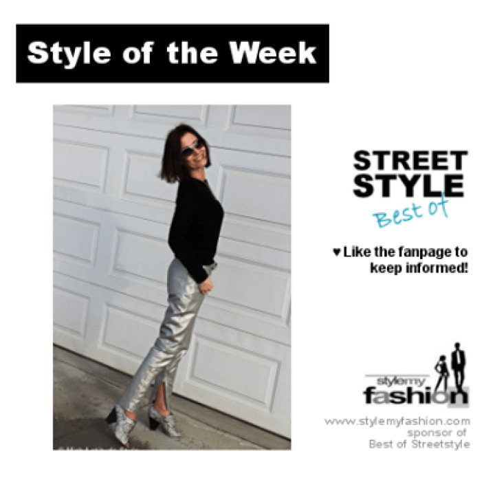 older woman who won a Street Style outfit competition #StyleOfTheWeek