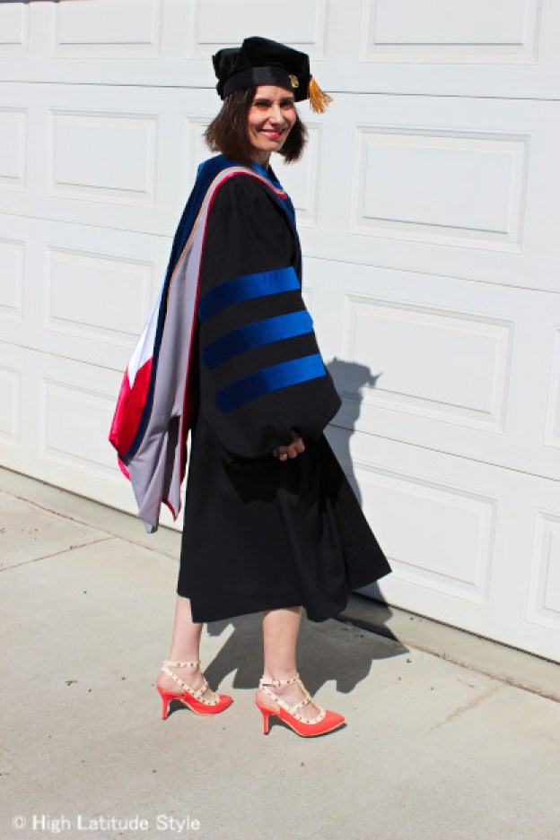 graduation regalia doctoral gown