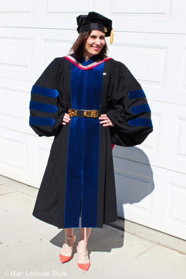 front view of doctoral regalia in natual sciences