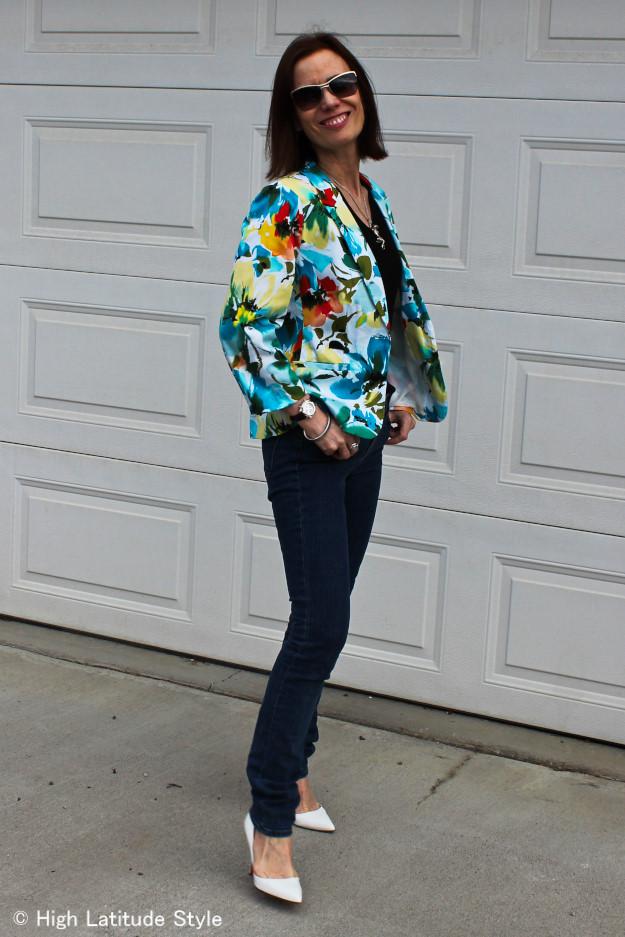 #JBrandJeans #floralBlazer #streetstyle