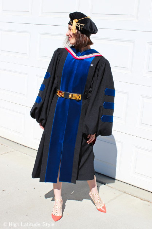 woman in doctoral gown