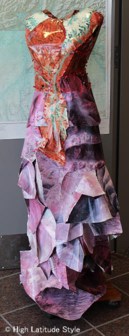 #fashionandart paper gown