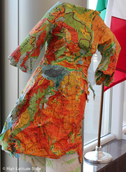 #travel Art in Alaska paper dress from maps