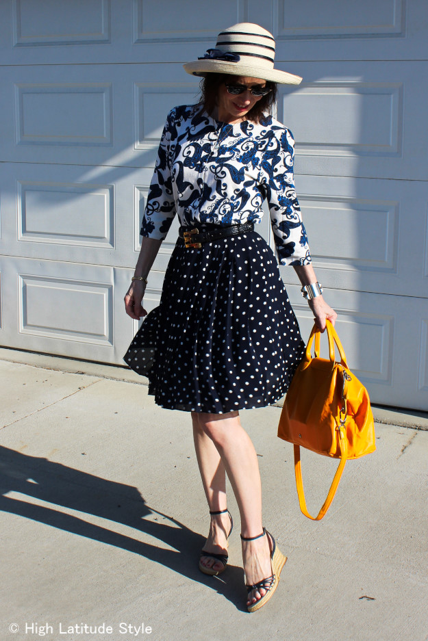 #styleover40 spring trend blue and white