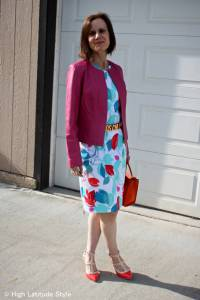 #fashionover50 summer work outfit sheath with belt
