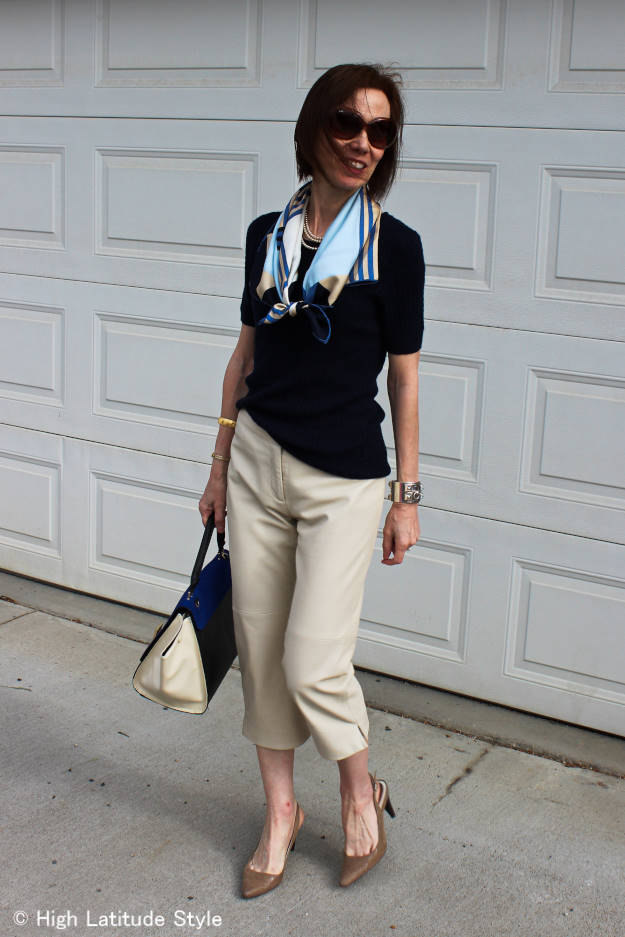 #fashionover40 mature summer outfit @ High Latitude Style