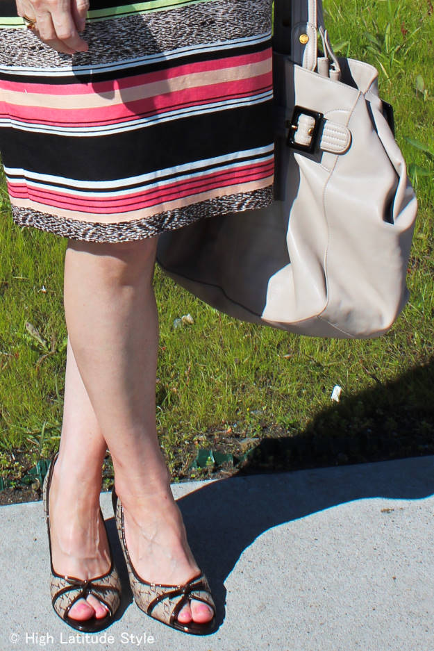 #fashionover50 details of summer office outfit
