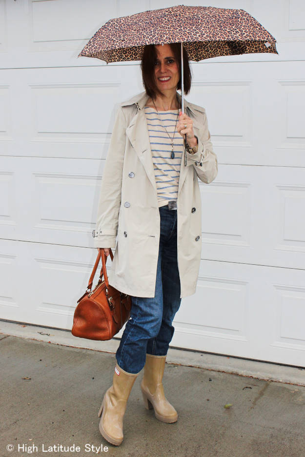 #MarineLayer casual outfit for sightseeing on a rainy day