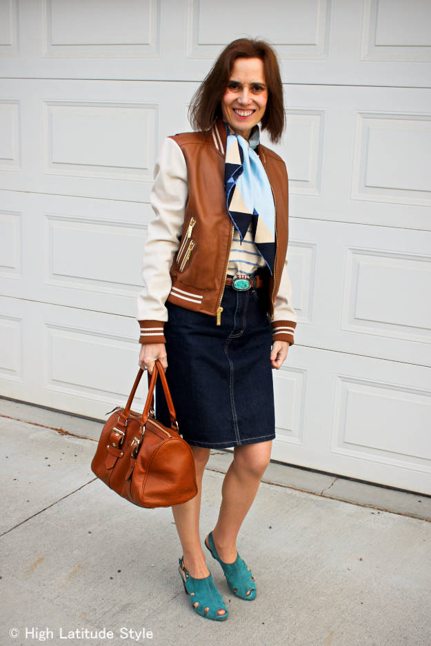 baseball look inspired mature outfit