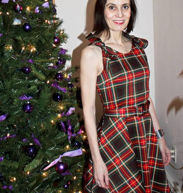 #Voodoo-Vixen-dress #retro-inspired-dress #over-40 #plaid-dress