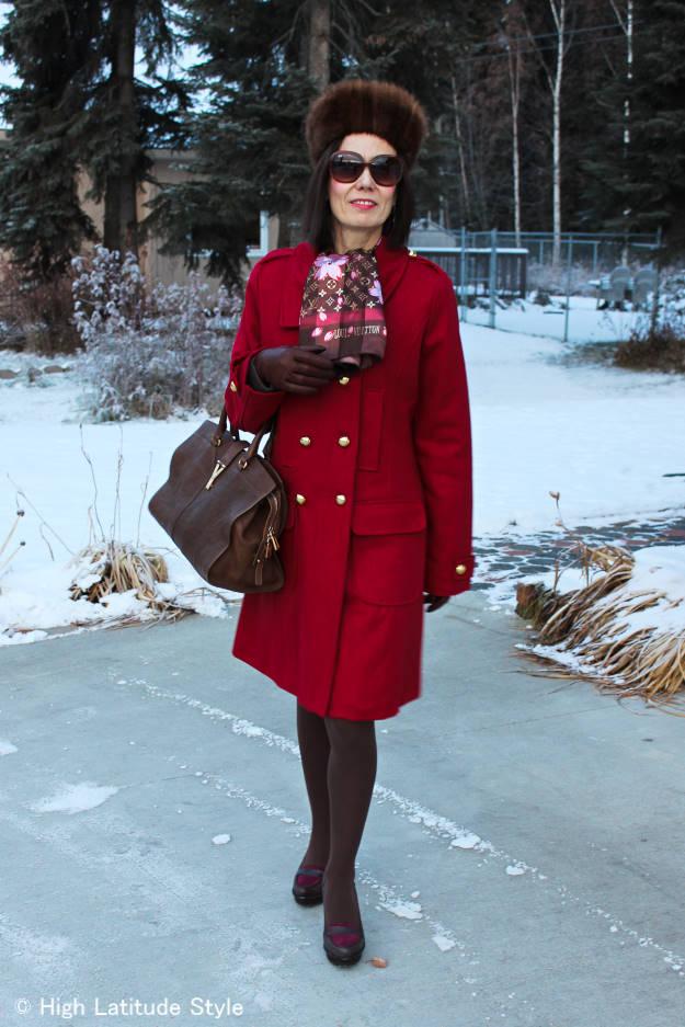 fashion over 40 winter work interview outerwear 