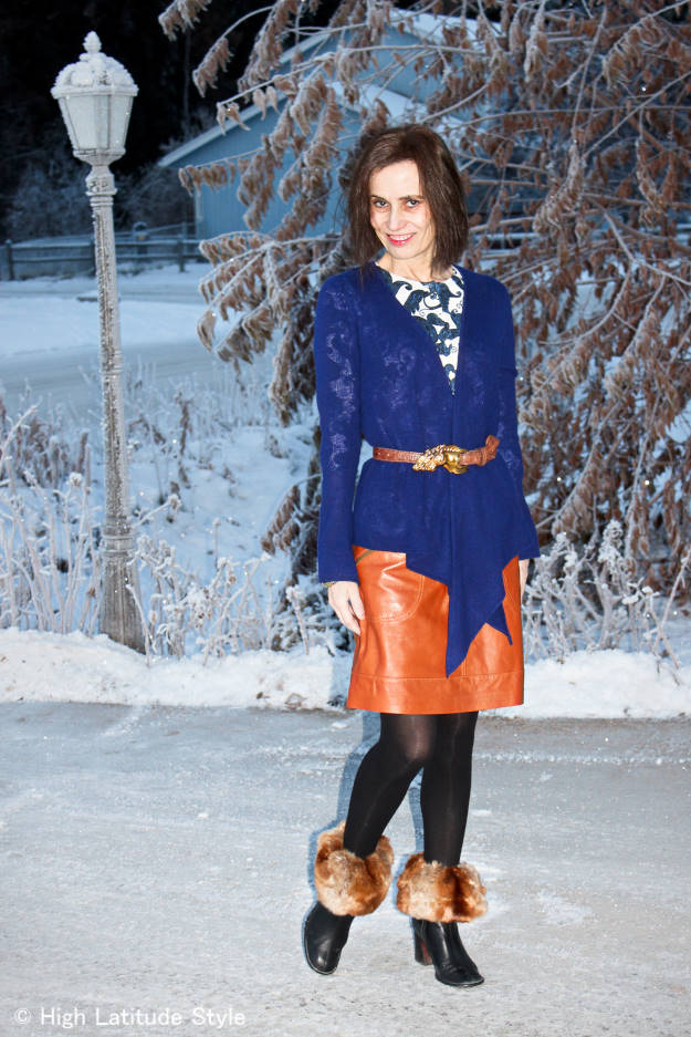 fashion over 40 Modern winter office look