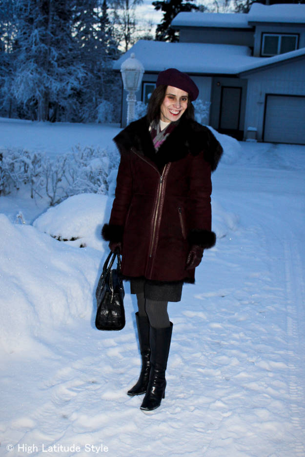 #over40 winter coat, beret and scarf | High Latitude Style \ http://www.highlatitudestyle.com