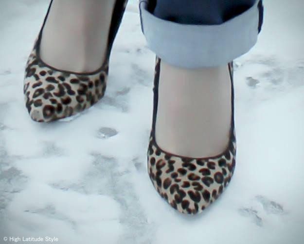 Leopard print pumps