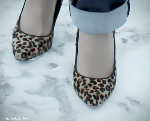 #maturefashion Leopard print pumps