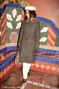 #over40 Winter outerwear with white leather pants | High Latitude Style | http://www.highlatitudestyle.com