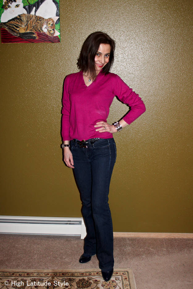 #fashionover50 Chic casual outfit for women in midlife