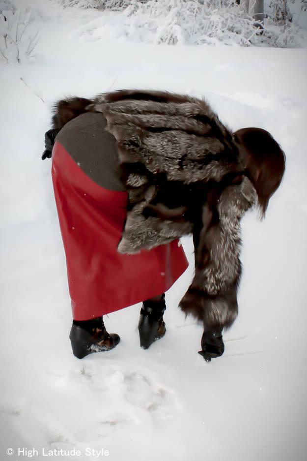 Casual feminine winter look