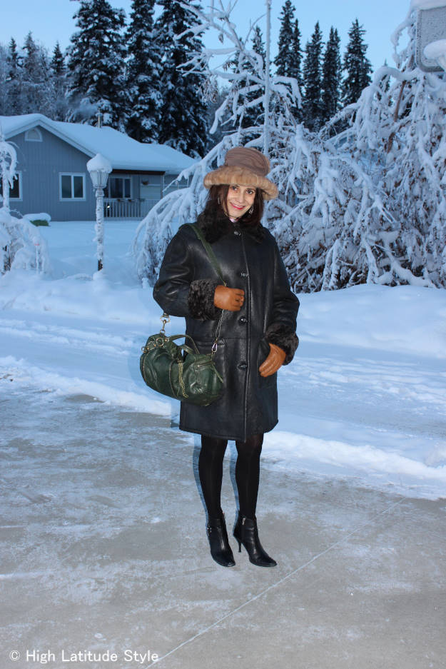 mature winter outerwear look