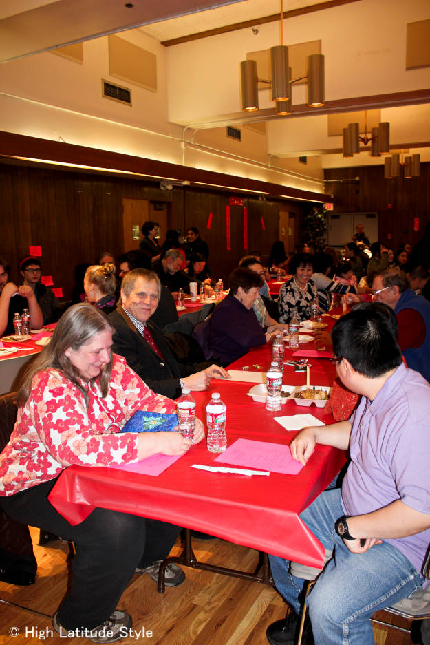 Audience of Chinese New Year's celebration in Fairbanks, Alaska