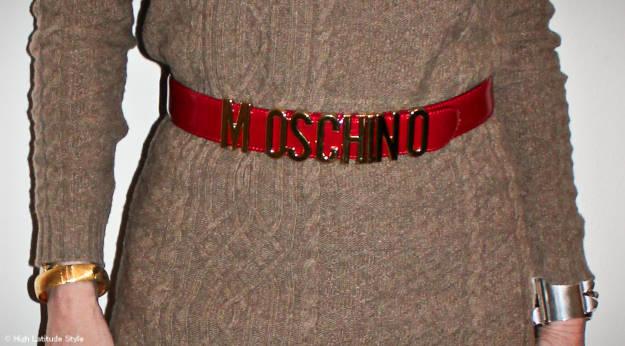 #Accessories Vintage MOSCHINO belt