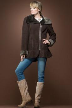 ML Furs Spanish Brown Brisa Mid-Length Shearling Coat