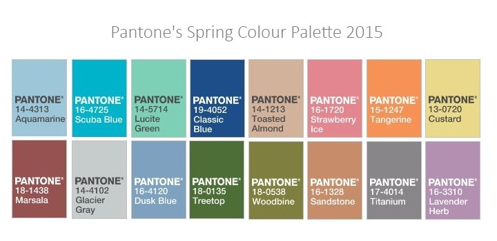 Pantome spring color palette