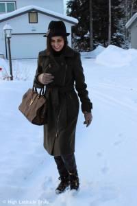 #over40 motorcycle coat with fedora | High Latitude Style | http://www.highlatitudestyle.com