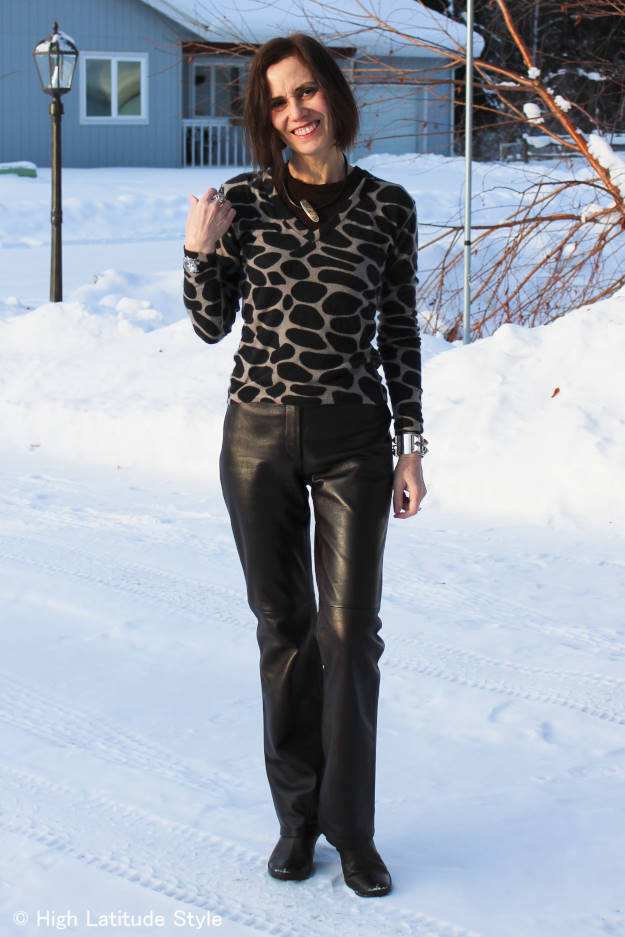 #over50fashion woman in winter office look