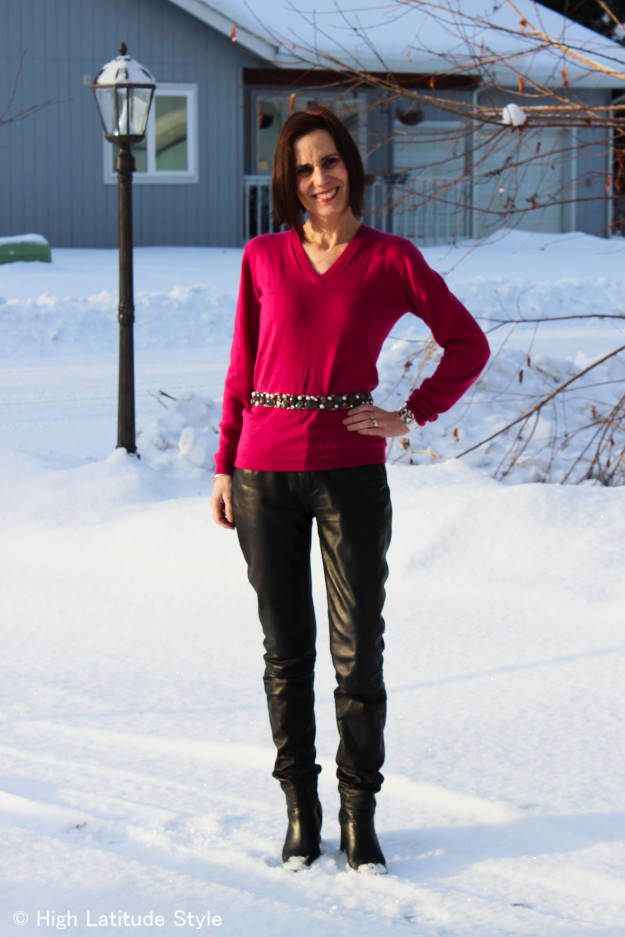 #over40fashion outfit for gallery visit