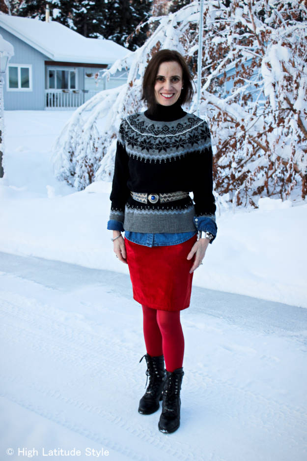 outfit combining various ethnic pieces