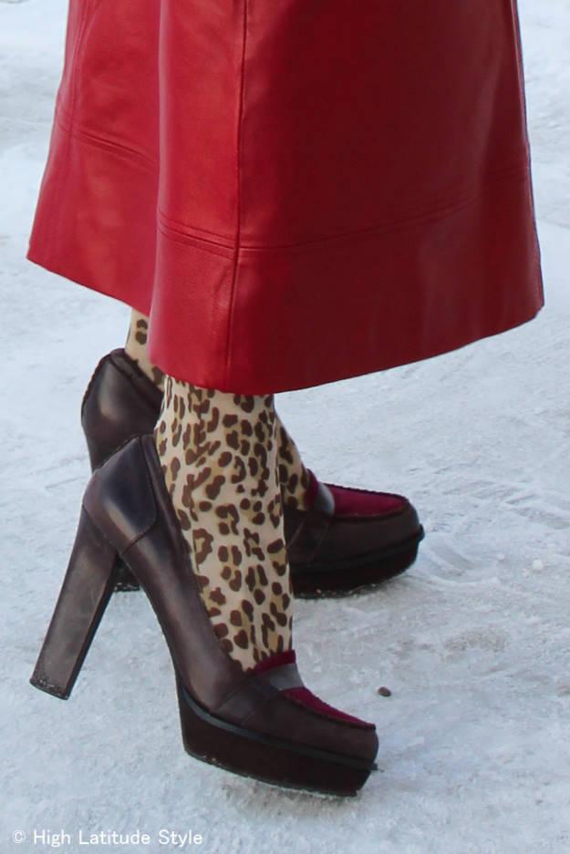 high heel plateau loafer shoes