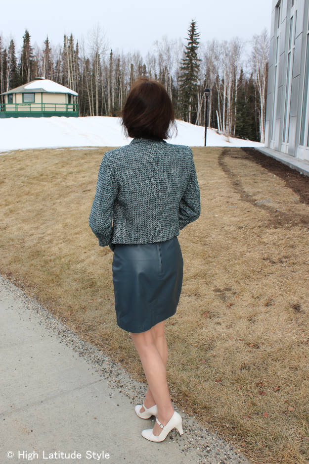 posh chic midlife work outfit