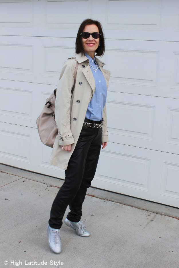 mature woman in street style look