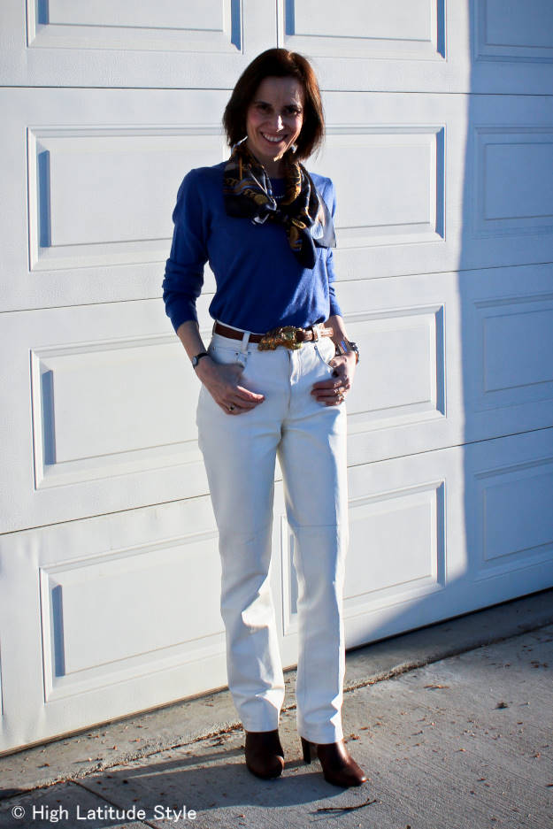 #fashionover40 casual spring work outfit