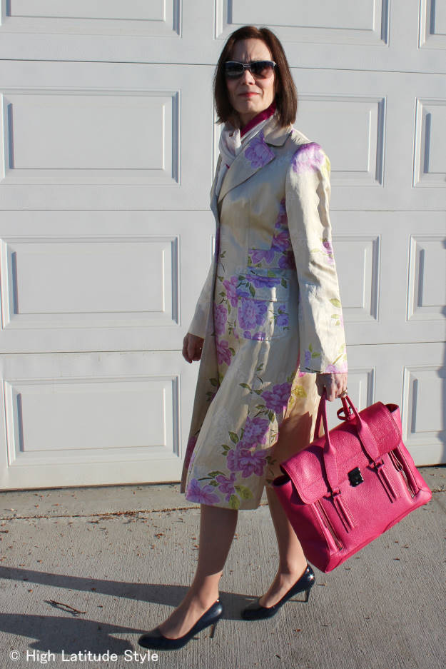 fashion over 50 woman in spring coat