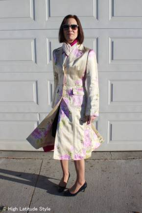 #over40 #over50 spring floral print coat   High Latitude Style   http://www.highlatitudestyle.com