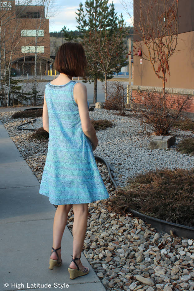 HSN fashion blogger wearing a Sigrid Olsen designer shift